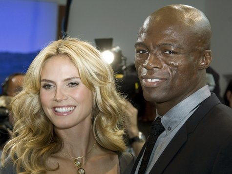 heidi klum and seal photo shoot. heidi klum and seal halloween.