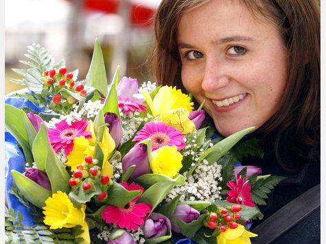 Букет цветов из Москвы? Самой Москвы??????