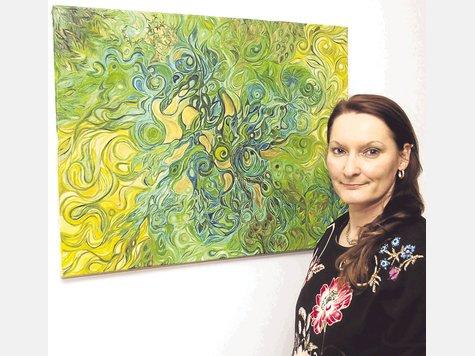 Schwungvolle Impressionen zeigt Claudia Simon. Foto: Rabe