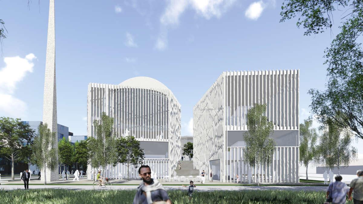 so soll das m nchner islamzentrum aussehen stadt m nchen. Black Bedroom Furniture Sets. Home Design Ideas